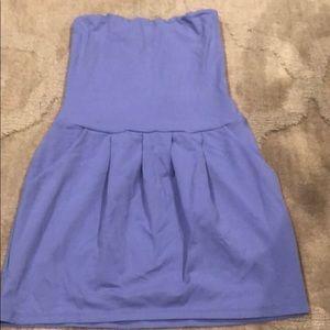 Lavender strapless dress